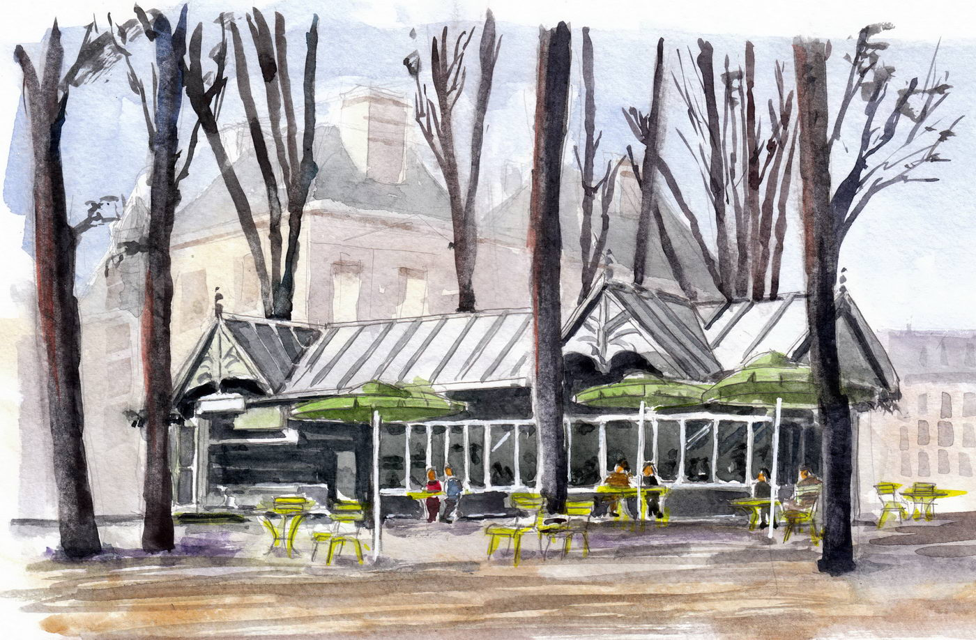 Caf du jardin du luxembourg paris michel colson for Plus grand jardin de paris