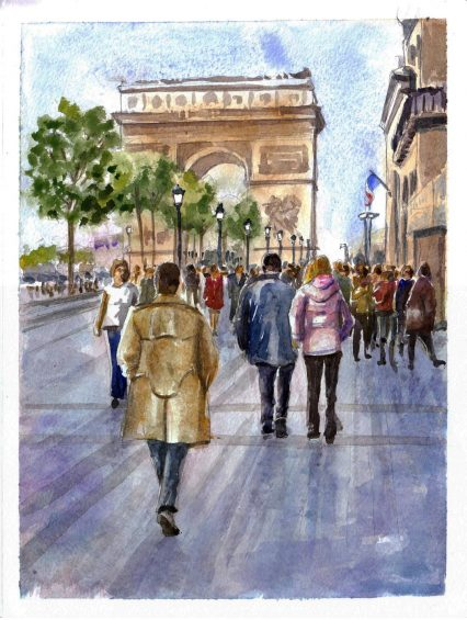 chanps elysees arc de triomphe