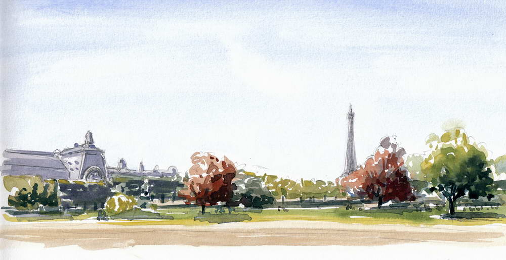 Jardin des tuileries paris michel colson for Plus grand jardin de paris